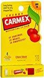 Carmex Click-Stick Moisturizing Lip Balm SPF 15 Cherry 0.15 oz (Pack of 11)