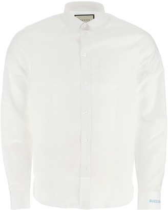 Gucci Logo Sleeve Embroidered Shirt