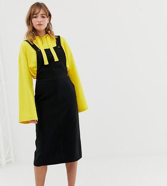 Monki dungarees dress in black
