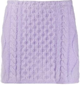 Laneus Cable Knit Mini Skirt