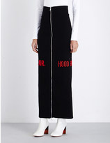 Hood by Air Zip-detail ribbed jersey skirt