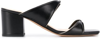Alexandre Birman Open Toe Two-Tone Sandals