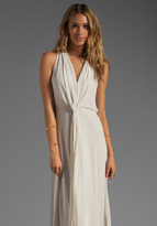 BCBGMAXAZRIA Deep V-Neck Flow Dress