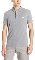 Lacoste Men's Short Sleeve Clean Seams Pique W/ Rubber Croc