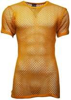 Crystal Mens 100% Cotton String Mesh Fishnet Short Sleeve T-Shirt