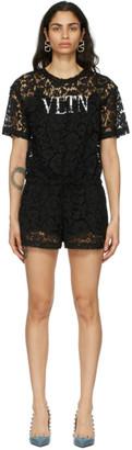 Valentino Black Lace VLTN Jumpsuit