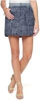 Juicy Couture Tweed Mixed W Denim Skirt
