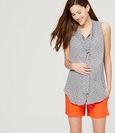 "LOFT Petite Maternity Riviera Shorts with 5 1/2"" Inseam"