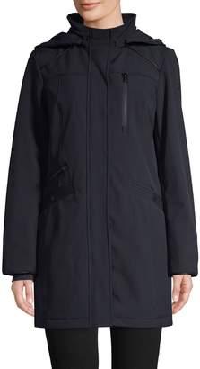 London Fog Hooded Softshell Jacket