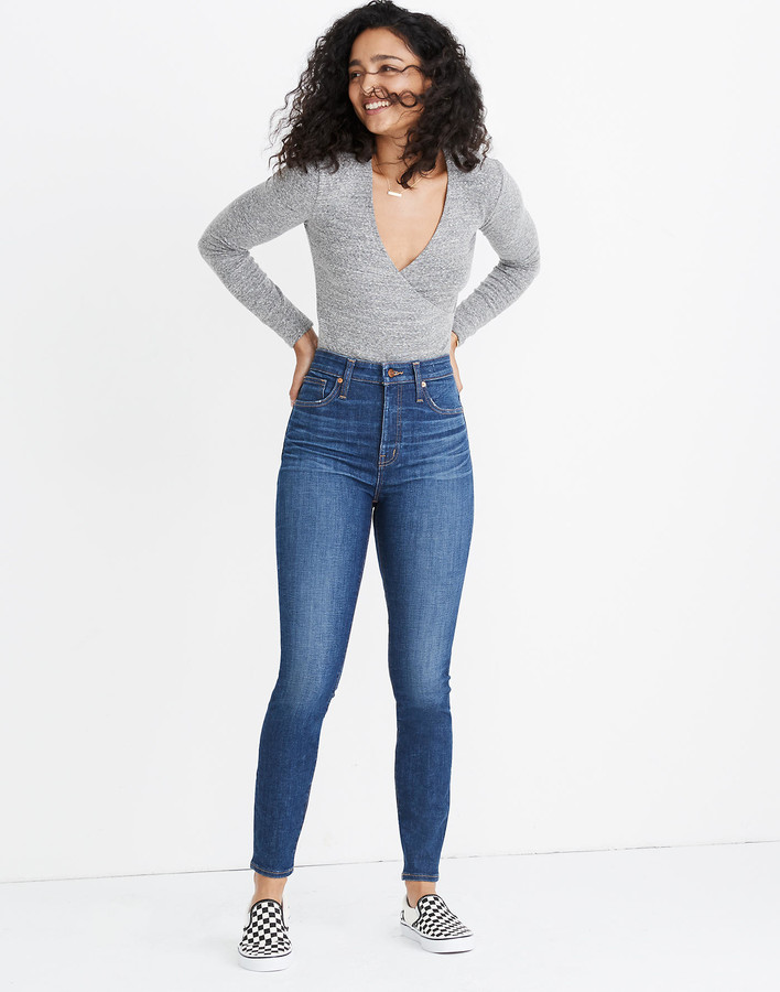 Madewell Petite Curvy High-Rise Skinny Jeans in Moreaux Wash