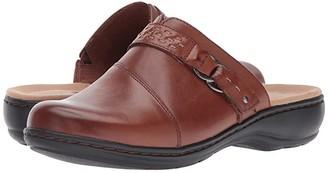Clarks Leisa Sadie (Dark Tan Leather) Women's Clog Shoes