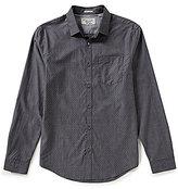 Original Penguin Long-Sleeve Dotted Chambray Dobby Woven Shirt