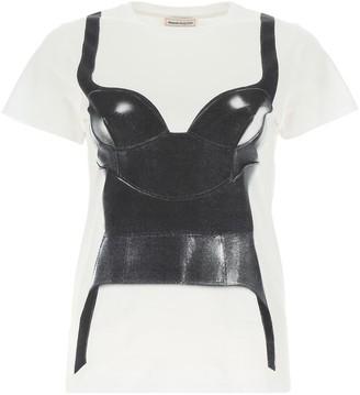Alexander McQueen Corset Printed T-Shirt