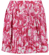 Raoul Pleated Printed Crepe Mini Skirt