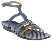 B. Makowsky As Is Leather Braided Strappy Sandals w/ Ankle Strap