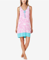 Ellen Tracy Racerback Printed Knit Nightgown