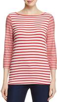 Three Dots French Terry Stripe Top - 100% Exclusive