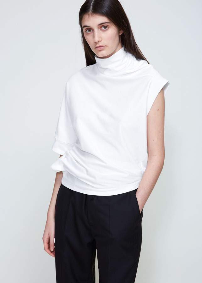 Maison Margiela Asymmetrical Cotton Jersey Tee