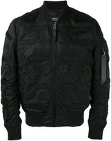 Marcelo Burlon County of Milan embroidered bomber jacket - men - Nylon - XL