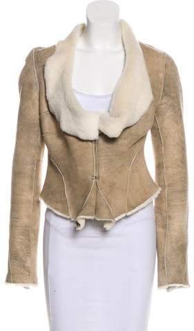 Diane von Furstenberg Shearling Lined Leather Jacket