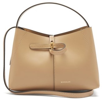 Wandler Ava Mini Leather Cross-body Bag - Beige