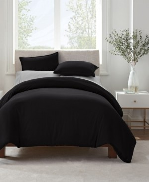 Serta Simply Clean Antimicrobial Full and Queen Duvet Set, 3 Piece Bedding