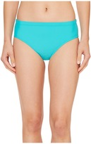 Athena Cabana Solids Landa Mid Waist Bikini Bottom Women's Swimwear