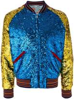 Gucci sequin bomber jacket