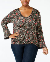 American Rag Trendy Plus Size Smocked Peasant Top, Only at Macy's
