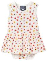 Toobydoo Watercolor Poppy Skirted Bodysuit (Baby Girls)