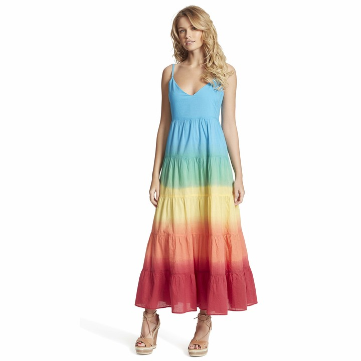 Thumbnail for your product : Jessica Simpson Women's Plus Size Herbs Tiered Ombre Maxi Dress