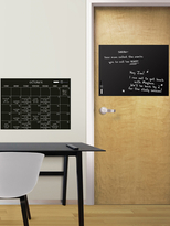 Black Dry Erase Calendar And Message Board