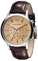 Emporio Armani Mens Croco-Embossed Leather Watch