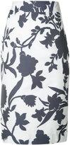 Milly floral print high-waist skirt - women - Cotton/Polyester - 2