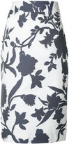 Milly floral print high-waist skirt