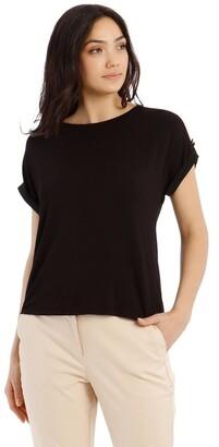 Basque Jersey Button Short Sleeve T-Shirt