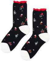 Hansel from Basel Ski Dazzle Crew Socks