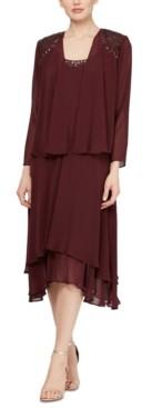 SL Fashions 2-Pc. Jacket & Embellished Midi Dress Set