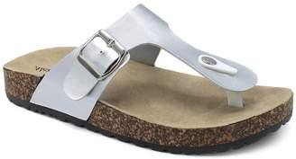 Alexis Bendel Women's Sandals SILVER - Silver Kylie T-Strap Sandal - Women
