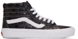 Vans Black Checkerboard Leather Sk8-Hi Reissue VI Sneakers