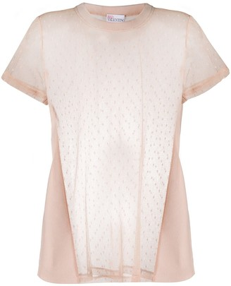 RED Valentino mesh panel T-shirt
