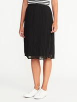 Old Navy Pleated Midi Skirt for Women