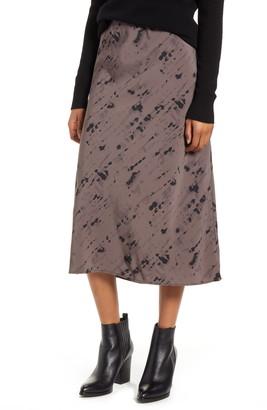 Bobeau Lyndon Bias Cut Midi Skirt
