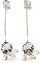 Lanvin Gold-tone, Pewter And Swarovski Crystal Earrings - Silver