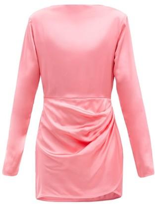 GAUGE81 Barbosa Padded-shoulder Satin Mini Dress - Pink
