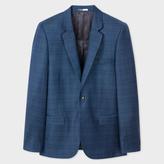 Paul Smith Men's Mid-Fit Navy Wool Check Blazer