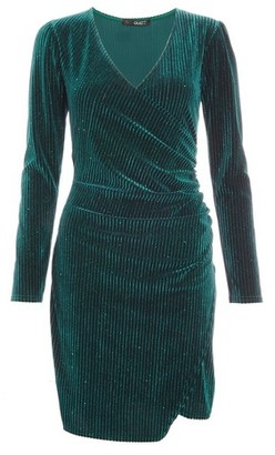 Dorothy Perkins Womens Quiz Bottle Green Bodycon Dress, Green