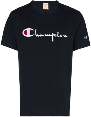 Champion script embroidered logo T-shirt