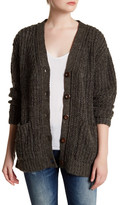 Anine Bing Long Sleeve Loose Fit Cardigan