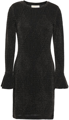 MICHAEL Michael Kors Metallic Jacquard-knit Mini Dress